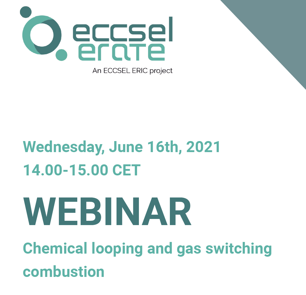 Annuncio Webinar: Chemical looping and gas switching combustion 16 giugno 2021 ore 14:00