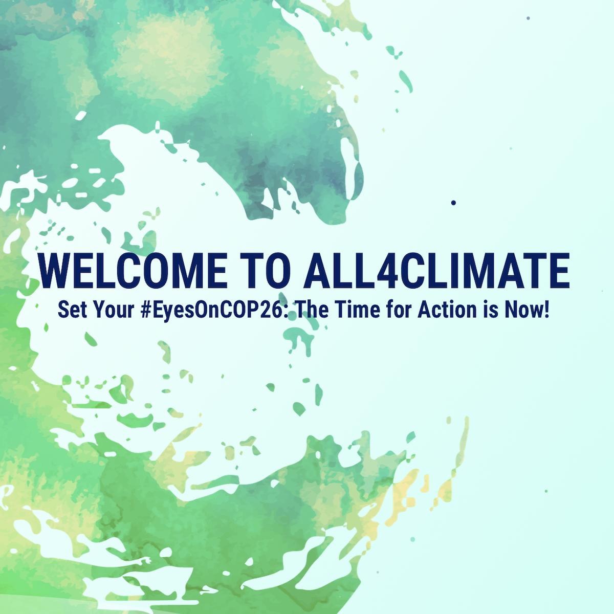 Iniziativa All4Climate – Invito ai Convegni del 28 settembre e 1° ottobre 2021