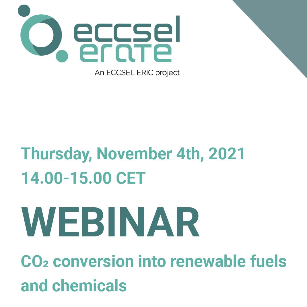 Webinar 'CO2 conversion into renewable fuels and chemicals' – 4 novembre 2021 ore 14:00